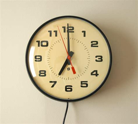 retro wall clocks black convex wall clock silent sweeping movement vintage industrial school wall clock electric by simplex