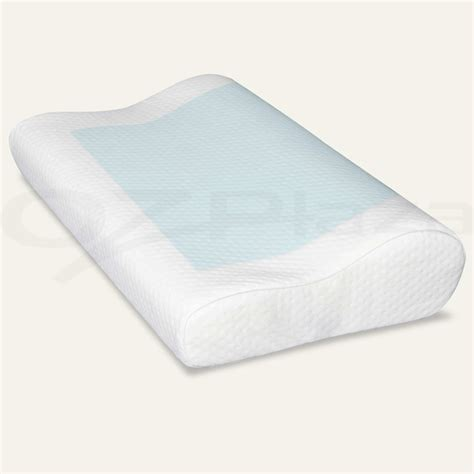High Density Memory Foam Pillow - 2x supreme high density memory foam pillow contour cool