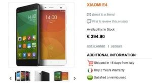 New Hp Xiaomi Mi4 One when the new iphone 6 isn t coming out in 2014 product