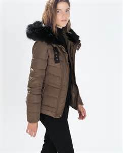 nwt zara quilted anorak fur puffer jacket coat