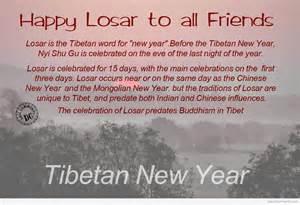 happy losar to all my friends tibetan new year