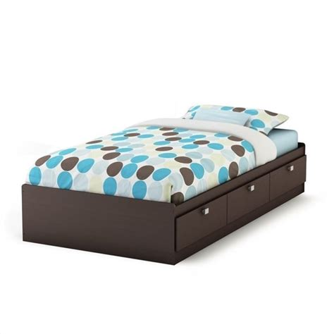 storage bed twin south shore cakao kids twin storage mates frame only