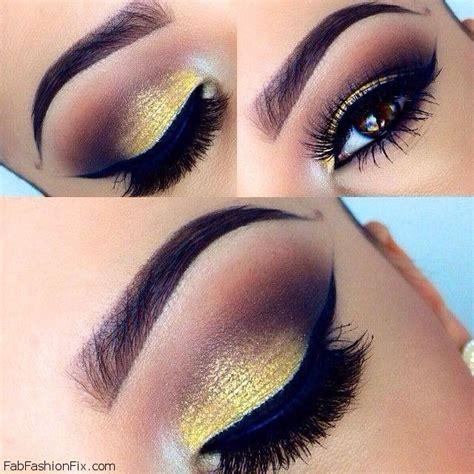 Eyeshadow Gold golden smokey eye makeup tutorial by eldridge fab fashion fix