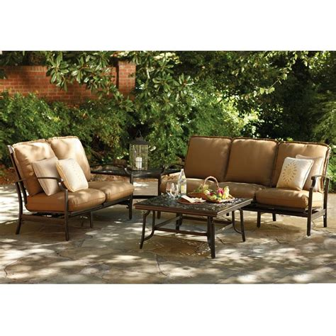 thomasville messina 4 piece patio sectional seating set