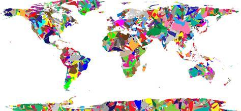 the art of world clipart modern art world map