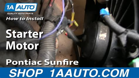 install replace change starter motor chevy cavalier