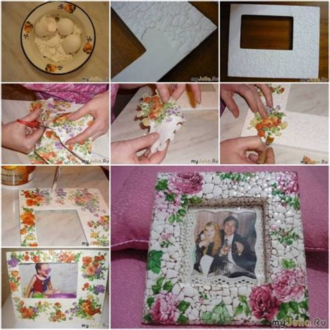 10 diy ideas for how to frame that basic bathroom mirror how to make eggshell mosaic picture frame of your photo