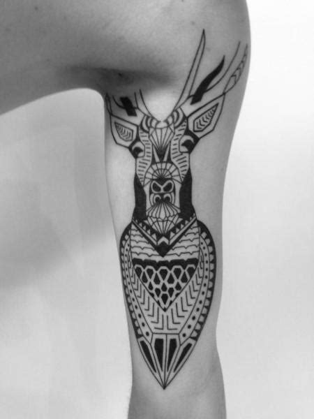 two spirit tattoo arm tribal deer by 2 spirit