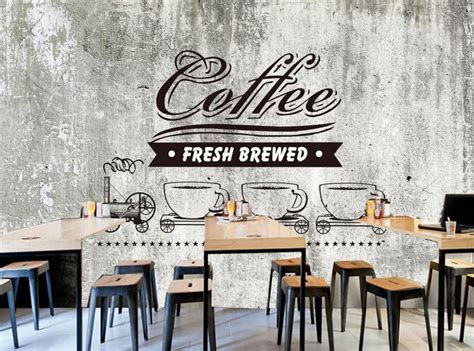coffee shop wallpaper murals aliexpress com buy custom food shop wallpaper old cement