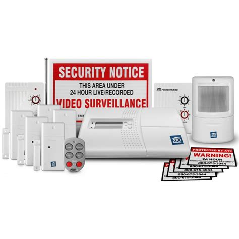 x10 home security 16 system with sr751 range extender