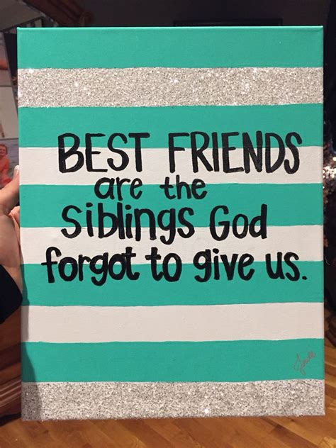 best friends canvas diy pinterest friend canvas