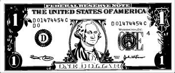coloring page dollar bill printable paper dollar bill to color