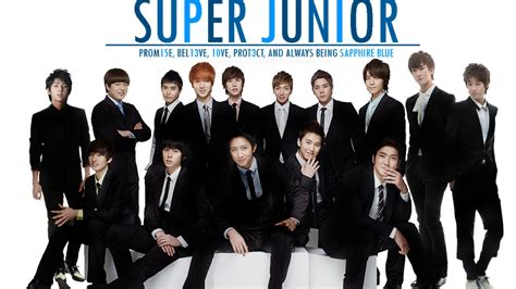 super junior super junior sapphire blue okay wallpaper