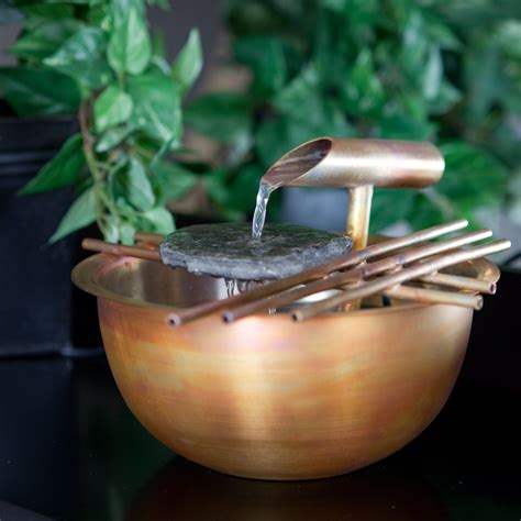 nayer kazemi water art 1004 copper gentle flow tabletop