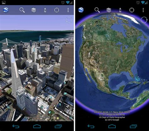 google updates maps and earth apps with super sharp google earth archives droid life