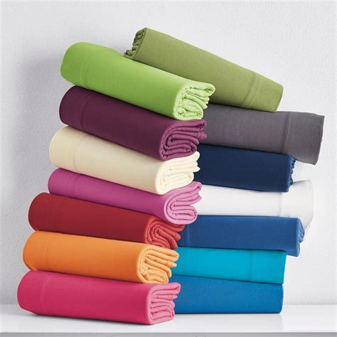 jersey bedding solid jersey knit sheets the company store