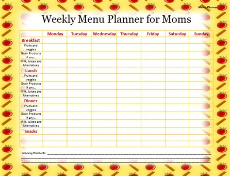 menu planning template menu planner template search results calendar 2015
