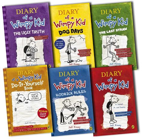 pictures of diary of a wimpy kid books diary of a wimpy kid collection 6 books set rrp 163 45 94 ebay