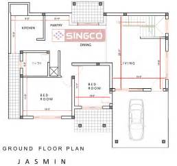 house plan drawings plan singco engineering dafodil model house