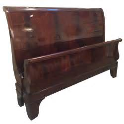 Sleigh Bedroom Furniture King Size Flame Mahogany Sleigh Bed At 1stdibs