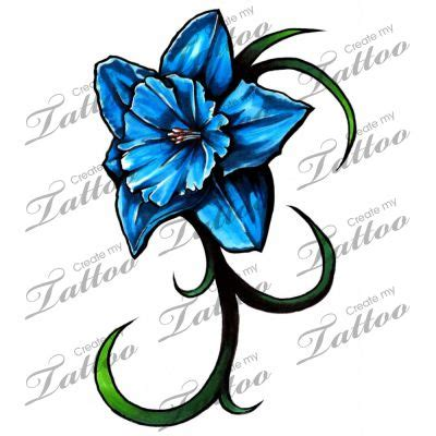 daffodil tattoos gallery vivid daffodil tattoo blue