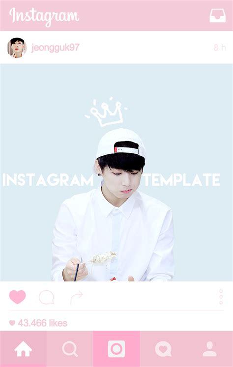 Bangtan Plaza Instagram Template Psd