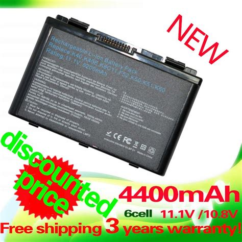 Battery Baterai Asus A32 F82 A32 F52 K40 K40i K40e K50 P81 X70 X65 F82 aliexpress buy 4400mah laptop battery for asus a32 f52 a32 f82 a32 f82 k40 k40in k50 k50in