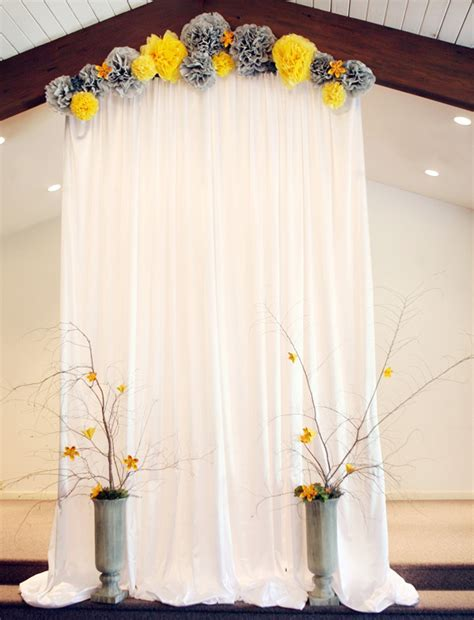 Easy Wedding Backdrop by 30 Alternative Wedding Backdrops Home Design