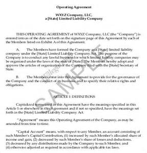 sle limited liability company operating agreement