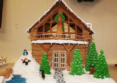 gingerbread log cabin template gingerbread log cabin contest