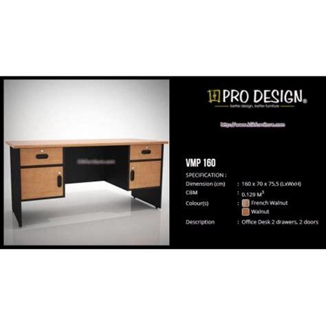 Pro Design Meja Kerja meja kantor 1 biro vmp 160 vista prodesign