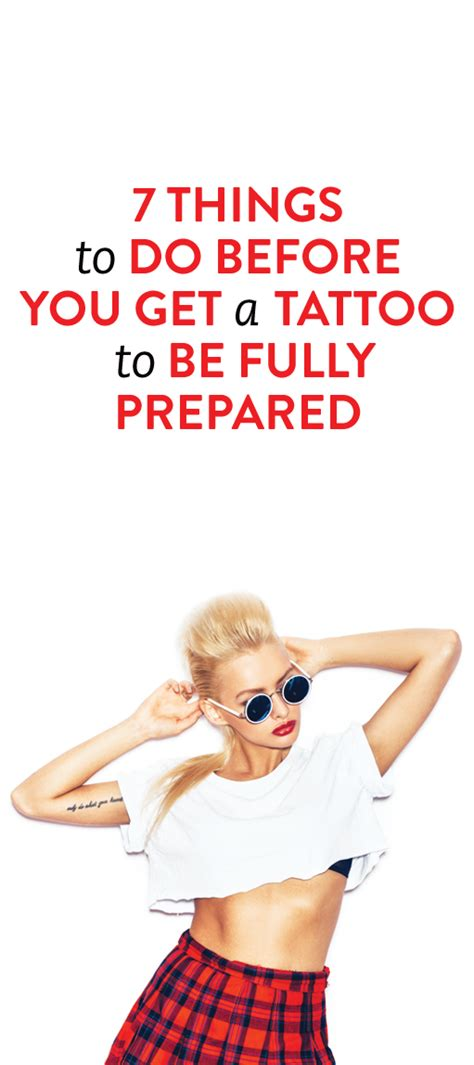 what to do before a tattoo 7 things to do before you get a to make sure you re