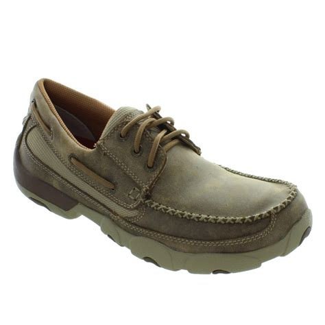 driving boat shoe twisted x boots men s driving moccasins boat shoes