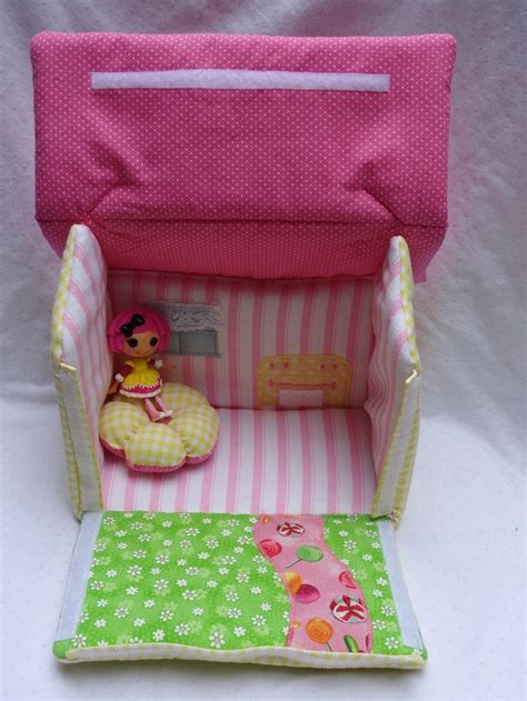 fabric doll house lalaloopsy fabric dollhouse crumbs sugar cookie inspired ready to ship