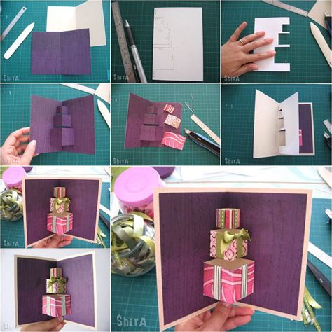 3 up gift certificates 3 up photo cards photoshop templates how to diy 3d gift box pop up card