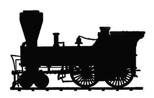 train silhouette clipart best