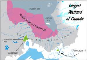 hudson bay canada map the hudson bay lowlands canada region s