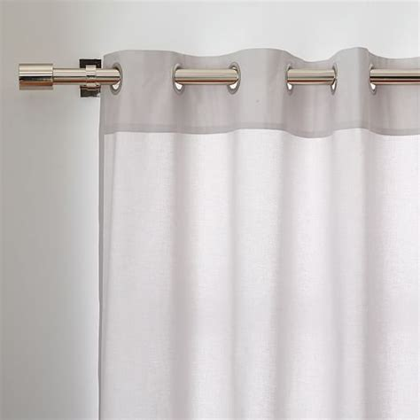 canvas grommet curtains cotton canvas grommet curtain frost gray west elm