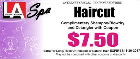 haircut coupons dfw student salon coupons for loraines academy spa at loraines