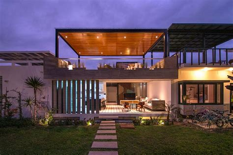 homes with outdoor living spaces chic seasonal beach house in peru by romo arquitectos