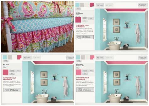 comparing paint colors valspar pink ceiling aqua creations for millie mae