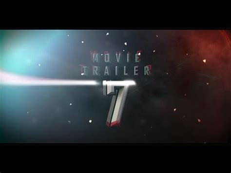Movie Trailer 07 After Effects Project Videohive Template Youtube Trailer Template After Effects Project
