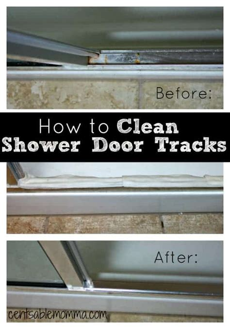 cleaning shower door tracks how to clean your shower door tracks centsable momma