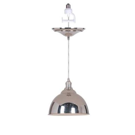 Home Decorators Collection Canady 1 Light Polished Nickel Pendant Light Adapter