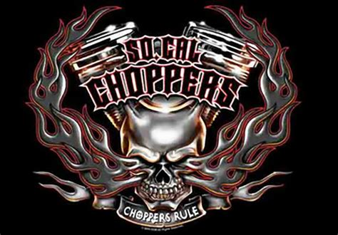 Kaos Harley Davidson Skull Wing so california choppers poster flag rule skull logo