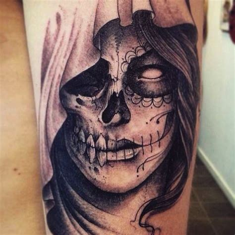 tattoo santa muerte by leguyt
