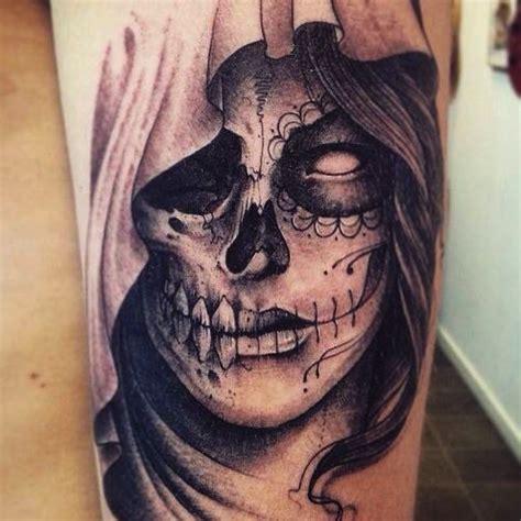 tattoo santa muerte by leguyt