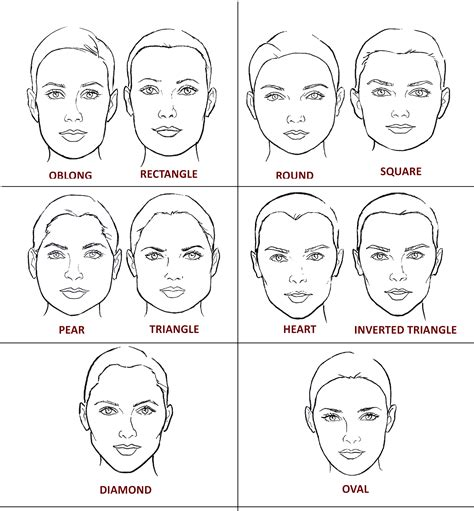 pictures of face shapes women what is your face shape makeup 4 real