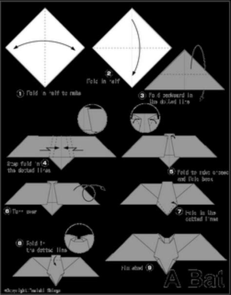 How To Make A Bat With Paper - broken how to make an origami bat 1 origami