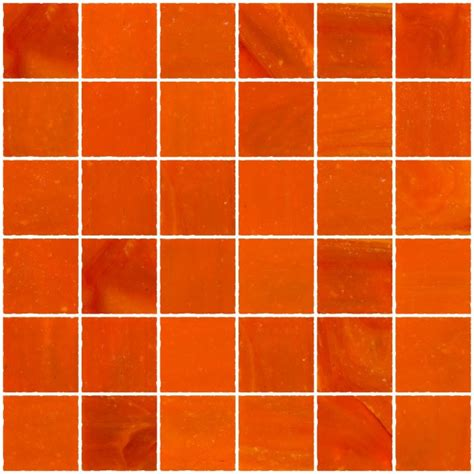 glass tile   opaque bright orange glass tile